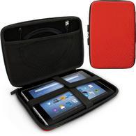 "iGadgitz Red EVA Zipper Travel Hard Case Cover Sleeve for Amazon Fire HD 10.1"""