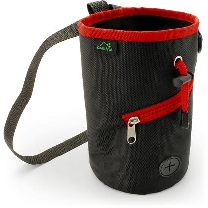 CampTeck Drawstring Chalk Bag for Rock Climbing, Bouldering, Gymnastics, Weightlifting & much more ? Black Thumbnail 1