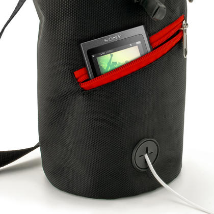 CampTeck Drawstring Chalk Bag for Rock Climbing, Bouldering, Gymnastics, Weightlifting & much more ? Black Thumbnail 2