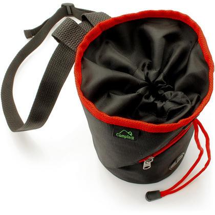 CampTeck Drawstring Chalk Bag for Rock Climbing, Bouldering, Gymnastics, Weightlifting & much more ? Black Thumbnail 3