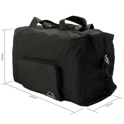 CampTeck 38.5L Folding Travel Duffle Bag Lightweight Foldable Bag for Luggage, Gym, Camping, Sport, Shopping ? Black Thumbnail 3