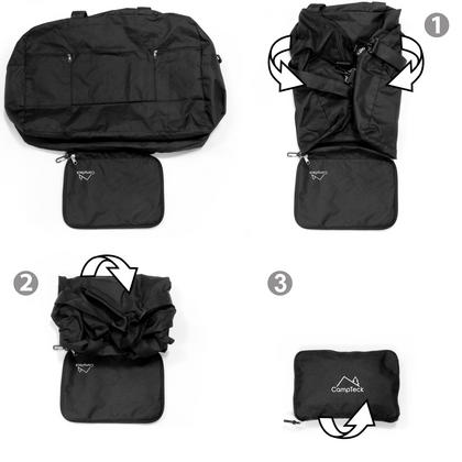 CampTeck 38.5L Folding Travel Duffle Bag Lightweight Foldable Bag for Luggage, Gym, Camping, Sport, Shopping ? Black Thumbnail 4