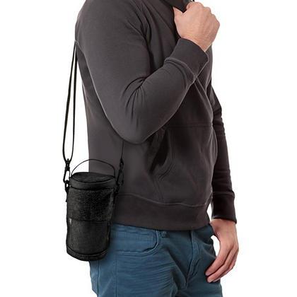 iGadgitz Black Fabric Travel Carrying Bag for Bose SoundLink Revolve Bluetooth Speaker with Detachable Shoulder Strap Thumbnail 4