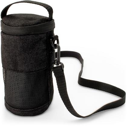 iGadgitz Black Fabric Travel Carrying Bag for Bose SoundLink Revolve Bluetooth Speaker with Detachable Shoulder Strap Thumbnail 1