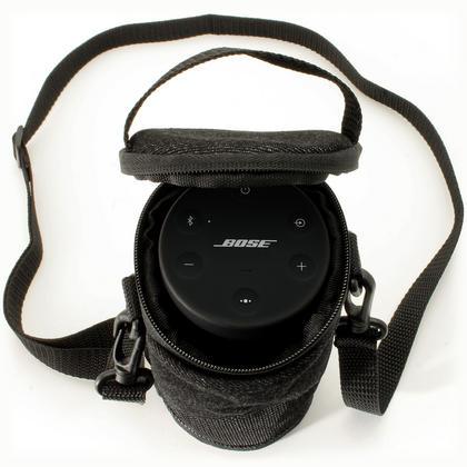 iGadgitz Black Fabric Travel Carrying Bag for Bose SoundLink Revolve Bluetooth Speaker with Detachable Shoulder Strap Thumbnail 2