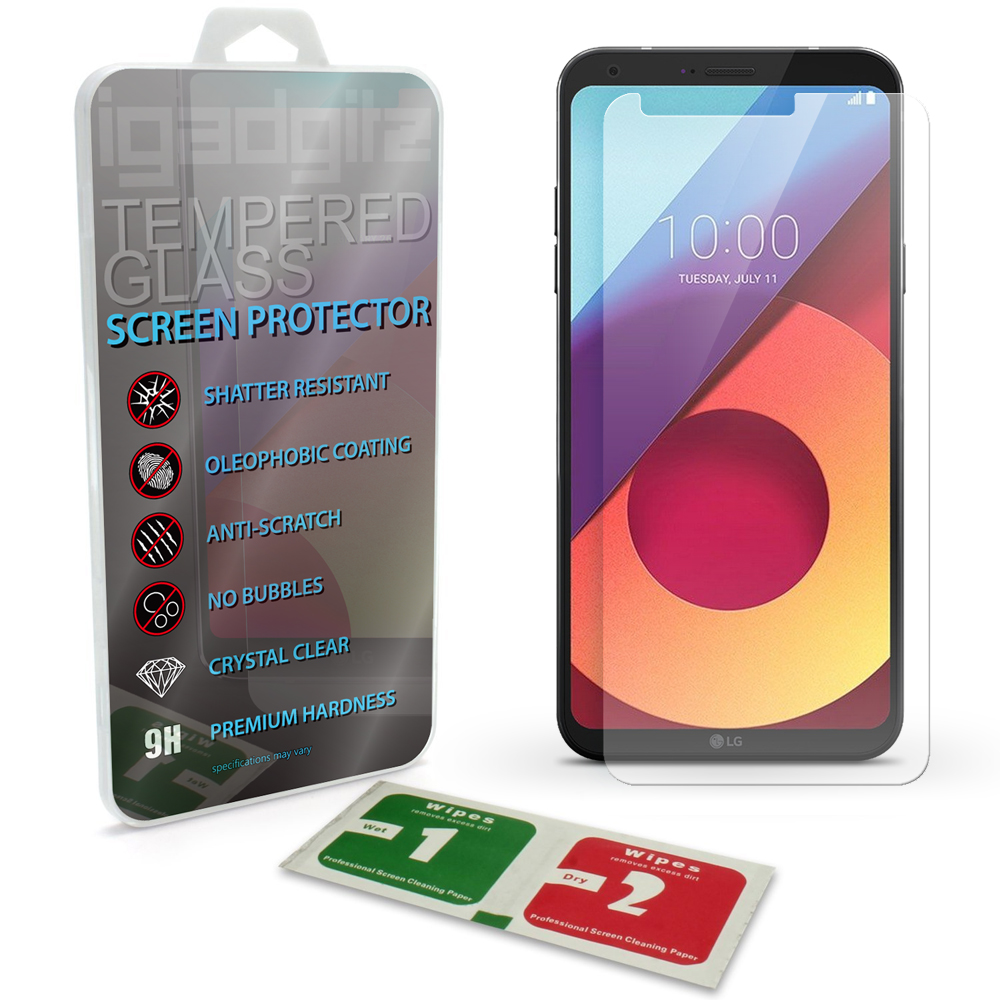 iGadgitz Tempered Glass Screen Protector for LG Q6 M700N (2017) Shatterproof 9H Hardness Anti Scratch