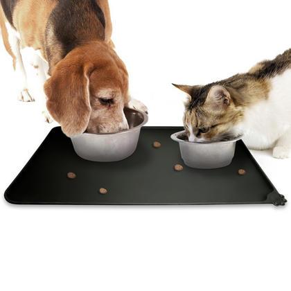 iGadgitz Home FDA Grade Silicone Pet Feeding Mat 47x30cm Non Slip Pet Food Mat for Dog Cat Bowls Thumbnail 2