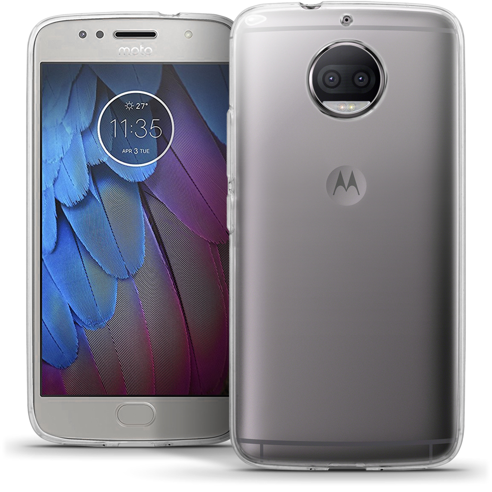iGadgitz Glossy TPU Gel Skin Case Cover for Motorola Moto G5S Plus (Lenovo Moto G5S Plus) + Screen Protector