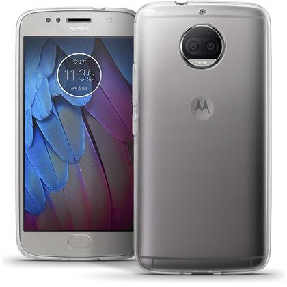 iGadgitz Glossy TPU Gel Skin Case Cover for Motorola Moto G5S Plus (Lenovo Moto G5S Plus) + Screen Protector Thumbnail 1