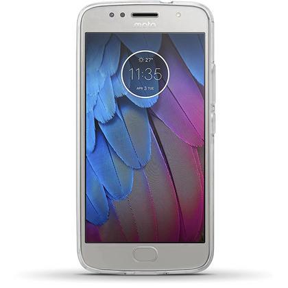 iGadgitz Glossy TPU Gel Skin Case Cover for Motorola Moto G5S Plus (Lenovo Moto G5S Plus) + Screen Protector Thumbnail 3