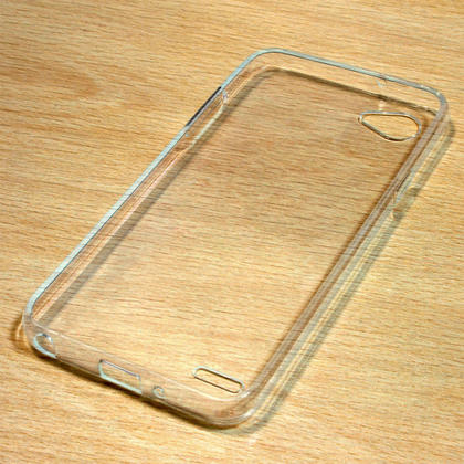 iGadgitz Transparent Clear Glossy TPU Gel Skin Case Cover for LG Q6 Plus M700DSN (2017) + Screen Protector Thumbnail 2
