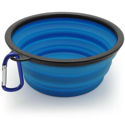 iGadgitz Home Large Foldable Travel Silicone Dog Bowl Food Water Feeding Portable Dish for Pet Thumbnail 2