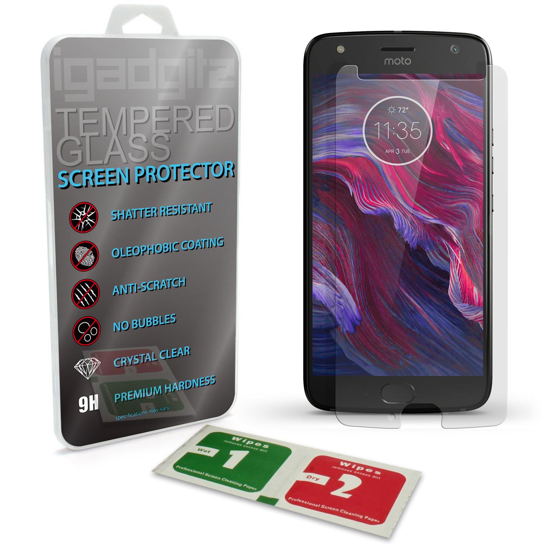 iGadgitz Tempered Glass Screen Protector for Motorola Moto X4 (Lenovo X4) Shatterproof 9H Hardness Anti Scratch