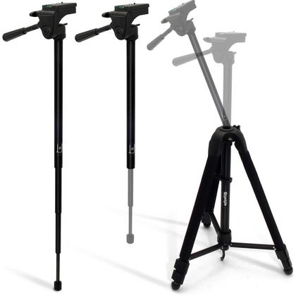 "iGadgitz 150cm (59"") 2 in 1 Aluminium Tripod & Monopod for Sony FDR-AX100EB, CX240E, HDR-CX405, HDR-PJ620 HD Camcorders Thumbnail 4"