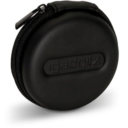 iGadgitz Black EVA Zipper Carrying Hard Case Cover for Sony h.ear in NC XBA-H1 EX650AP EX450 MDR-EX110AP Earphones Thumbnail 2