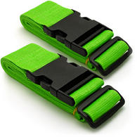 CampTeck Long Travel Luggage Straps Adjustable Suitcase Safety Belts? Green, 1 Pair