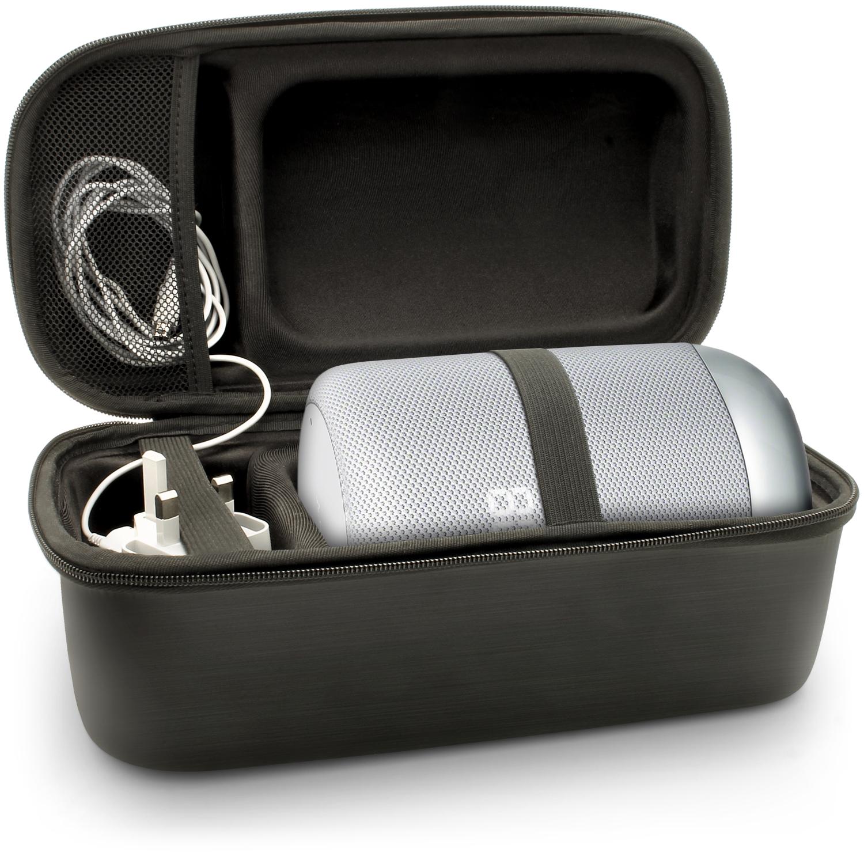 iGadgitz U6763 EVA Carrying Hard Travel Case Cover for Sony LF-S50G Smart Speaker - Black