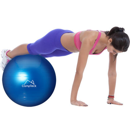 CampTeck U6764 Exercise Ball 65cm Swiss Ball with Hand Pump for Fitness, Gym, Yoga, Pilates, CrossFit etc. Thumbnail 2