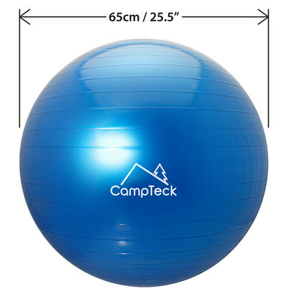 CampTeck U6764 Exercise Ball 65cm Swiss Ball with Hand Pump for Fitness, Gym, Yoga, Pilates, CrossFit etc. Thumbnail 4