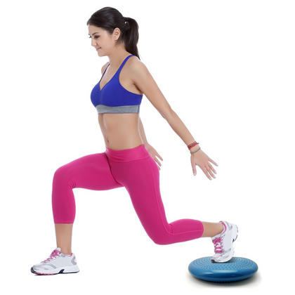 CampTeck Wobble Cushion Inflatable Balance Board with Hand Pump for Core Training, Gym Workouts, Yoga etc ? Blue, 32cm Thumbnail 3