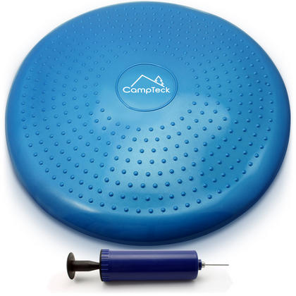 CampTeck Wobble Cushion Inflatable Balance Board with Hand Pump for Core Training, Gym Workouts, Yoga etc ? Blue, 32cm Thumbnail 1