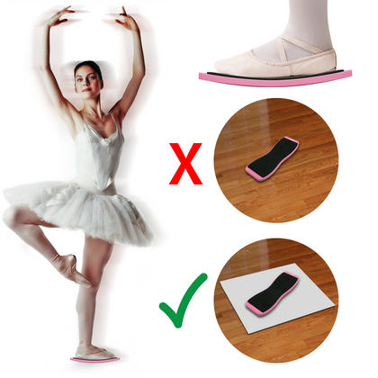 CampTeck Dance Turning Board Ballet Pirouette Spin Board for Ballet Dancers, Rotation Practice, Skating ? Pink, 1 Piece Thumbnail 2