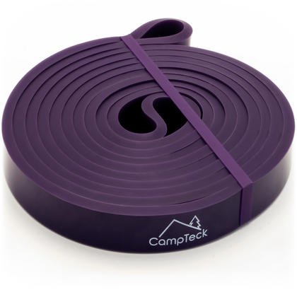 CampTeck Resistance Stretching Band for Gym, Ballet, Yoga, Aerobics, Workout, Pilates, Pull Up, Powerlifting ? Purple Thumbnail 1