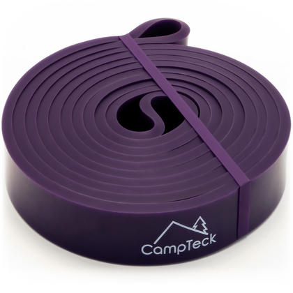 CampTeck Resistance Stretching Band for Gym, Ballet, Yoga, Aerobics, Workout, Pilates, Pull Up, Powerlifting ? Purple Thumbnail 2