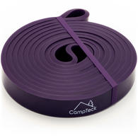 CampTeck Resistance Stretching Band for Gym, Ballet, Yoga, Aerobics, Workout, Pilates, Pull Up, Powerlifting ? Purple