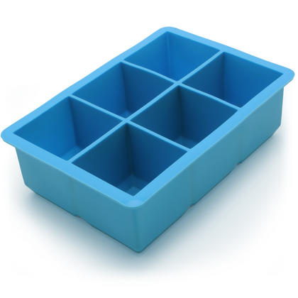 iGadgitz Home Silicone Ice Cube Tray 6 Extra Large Square Food Grade Jumbo Ice Cube Moulds - Pack of 1 Thumbnail 2