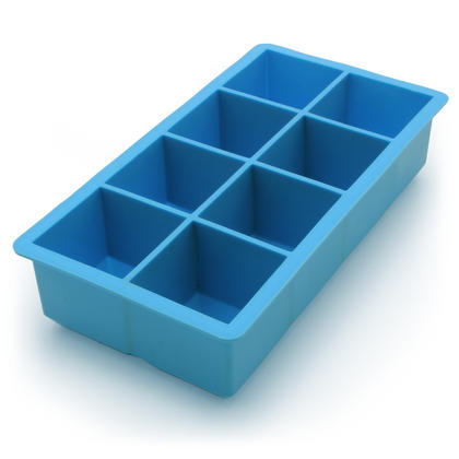 iGadgitz Home Silicone Ice Cube Tray 8 Extra Large Square Food Grade Jumbo Ice Cube Moulds - Pack of 2 Thumbnail 2
