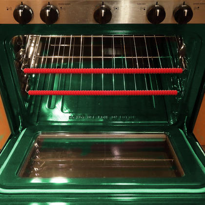 iGadgitz Home U6785 Silicone Oven Rack Guard BPA-Free Oven Rack Shields Burns and Scars Protector ? Red, 2 Pieces Thumbnail 3