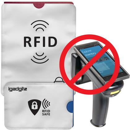 iGadgitz 12Pcs RFID Blocking Sleeves Secure Identity Theft Travel Card Protectors ? (10 Credit Card 2 Passport Holders) Thumbnail 3