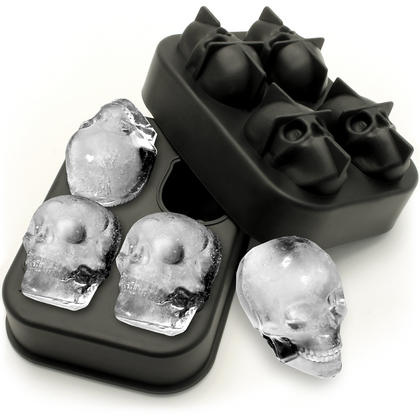 iGadgitz Home Silicone Skull Ice Cube Tray Food Grade Ice Skulls Mould Maker for Cocktail, Whiskey, Liquor & Other Drink - Pack of 1 Thumbnail 1