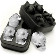 iGadgitz Home Silicone Skull Ice Cube Tray Food Grade Ice Skulls Mould Maker for Cocktail, Whiskey, Liquor & Other Drink - Pack of 1