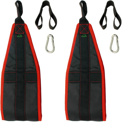 CampTeck Ab Straps Padded Hanging Ab Slings with Carabiner for Abdominal Training, Abs Crunch, Leg Raises, Pull Up Thumbnail 3