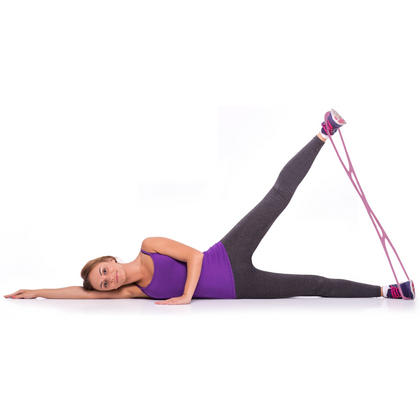 CampTeck Booty Resistance Band for Legs and Glutes Muscle Workout, Yoga, Pilates, Brazilian Butt Lift System - Pink Thumbnail 2