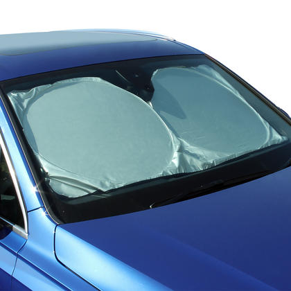 CampTeck U6834 Foldable Reflective Car Windscreen Sunshade UV Rays Sun Shade Sun Protector Universal Fit (148cmx70cm) Thumbnail 1