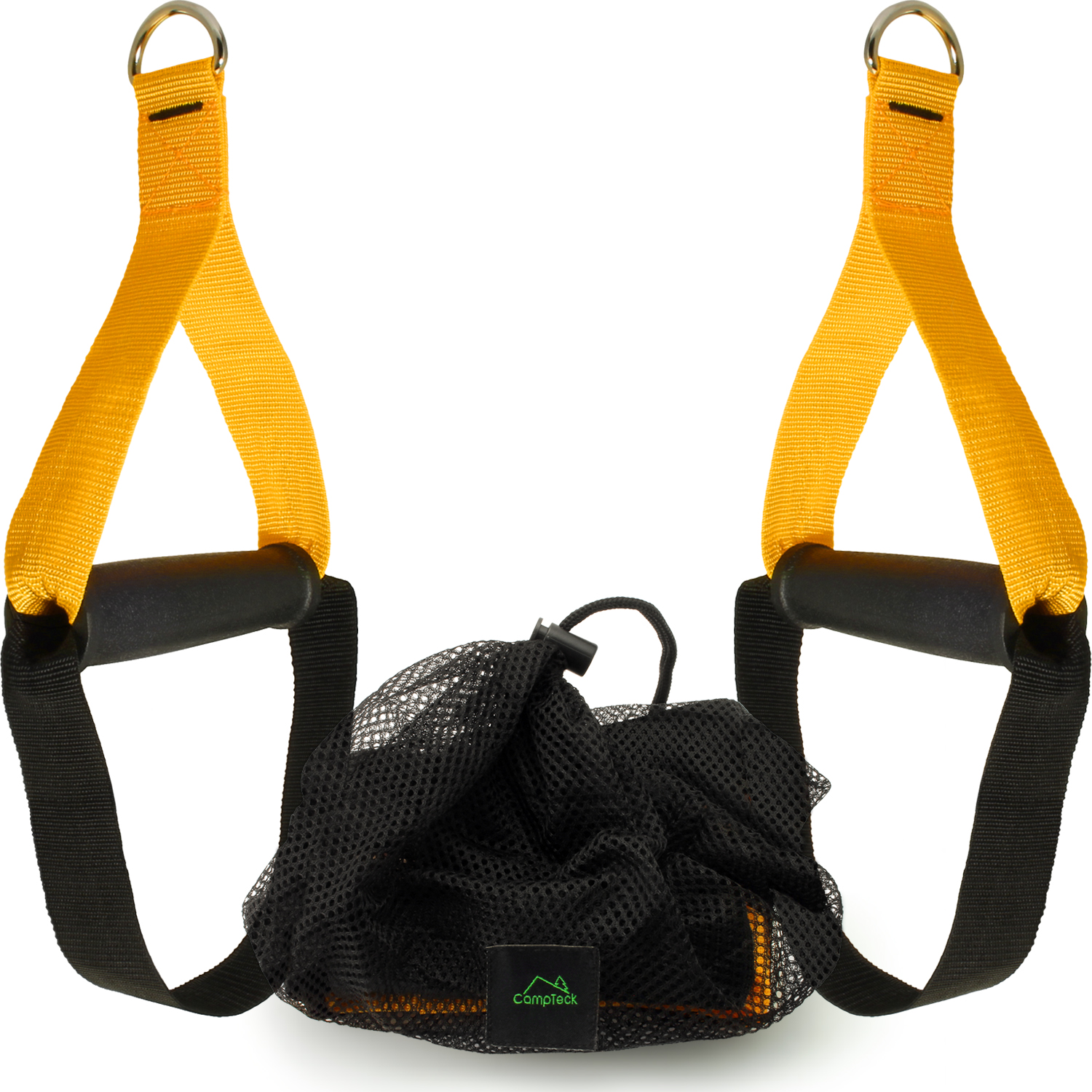CampTeck Heavy Duty Grip Handles Attachments for Resistance Bands, Suspension Trainer, Cable Machine, Home Gym