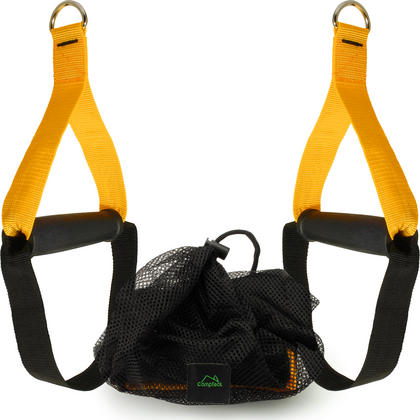 CampTeck Heavy Duty Grip Handles Attachments for Resistance Bands, Suspension Trainer, Cable Machine, Home Gym Thumbnail 1