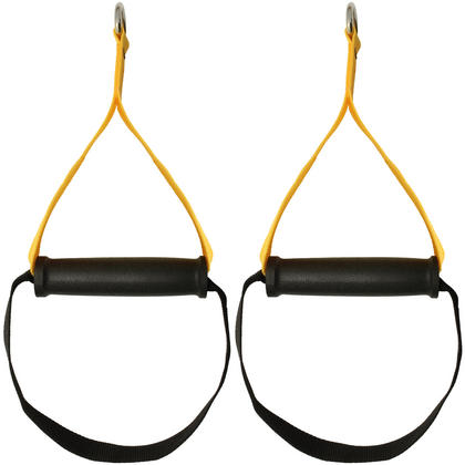 CampTeck Heavy Duty Grip Handles Attachments for Resistance Bands, Suspension Trainer, Cable Machine, Home Gym Thumbnail 2