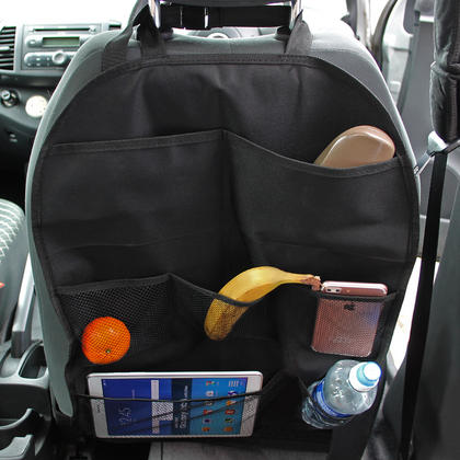 iGadgitz Car Seat Organiser Pockets Kick Mats Back Seat Travel Storage Stain Protector for Kids, Toddlers, Children - X2 Thumbnail 2
