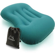 CampTeck Inflatable Camping Pillow (43 x 30cm) for Travel, Camping, Hiking, Beach and more with carry bag - Blue