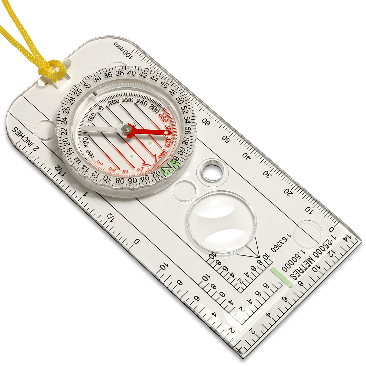 CampTeck U6867 Waterproof Orienteering Compass Navigation Compass Lanyard for Expedition Map Reading, Camping, Survival