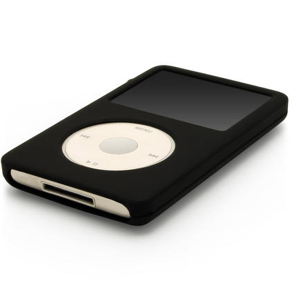 iGadgitz Black Silicone Skin Case for Apple iPod Classic 80gb, 120gb & latest 160gb + Screen Protector & Lanyard Thumbnail 3
