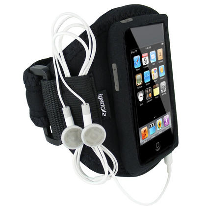 iGadgitz Water Resistant Neoprene Sports Armband for iPod Touch 1st, 2nd, 3rd and 4th Generation 8gb, 16gb, 32gb & 64gb Thumbnail 1