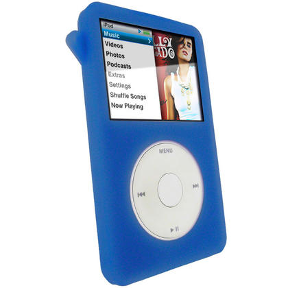 iGadgitz Blue Silicone Skin Case for Apple iPod Classic 80gb, 120gb & latest 160gb + Screen Protector & Lanyard Thumbnail 3