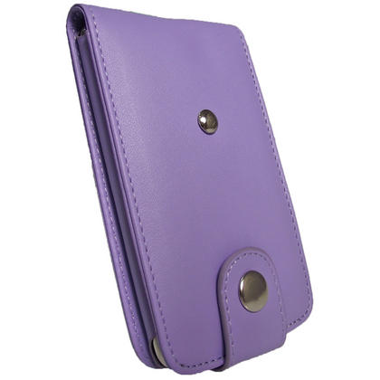 iGadgitz Purple Leather Case Cover for Apple iPod Touch 2nd & New 3rd Generation 8gb, 16gb, 32gb & 64gb + Belt Clip Thumbnail 3