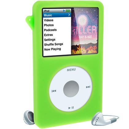 iGadgitz Green Silicone Skin Case for Apple iPod Classic 80gb, 120gb & latest 160gb + Screen Protector & Lanyard Thumbnail 4