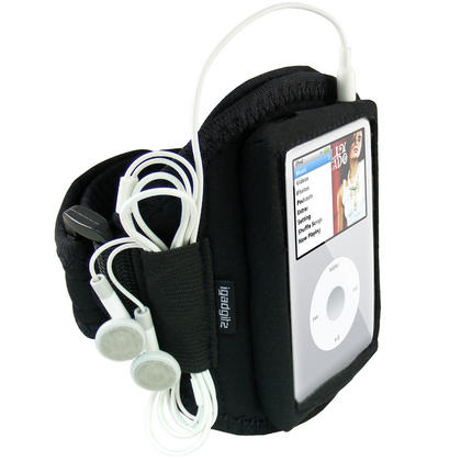 iGadgitz Water Resistant Neoprene Sports Gym Jogging Armband for Apple iPod Classic 80gb, 120gb & 160gb Thumbnail 1